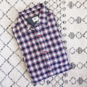 Old Navy Red & Blue Checkered Button Down Shirt